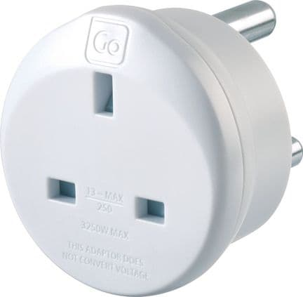 Go Travel Earthed UK to South Africa Compact Adaptor Converter (Adapter Ref 530)