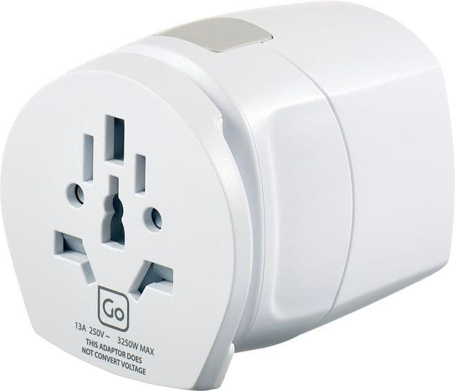 Go Travel Earthed Worldwide Adaptor-Universal Converter (Adapter Ref 636)