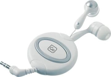 Go Travel Extra Comfort Rich Sound Anti Tangle Retractable Ear Phones (Ref 911)