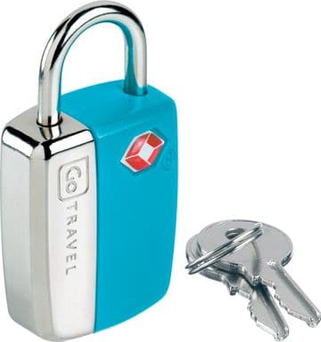 Go Travel Glo Travel Sentry® TSA Bright Colour Luggage Padlock -2 Keys (Ref 338)