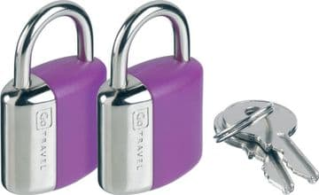 Go Travel Glo Ultra Bright Luggage Locks - 2 Locks & 2 keys per lock (Ref 708)