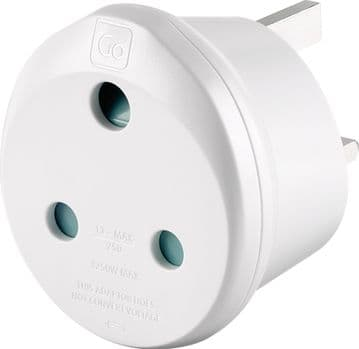 Go Travel South Africa to UK (SA-UK) Compact Earthed Travel Adaptor (Adapter Ref 582)