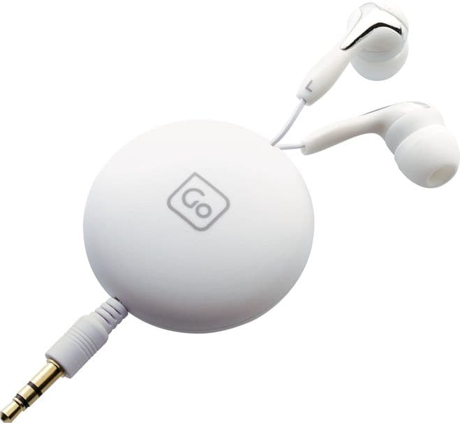 Go Travel Tangle-Free Retractable Earphones with Magnetic Clothes Clip (Ref 906)