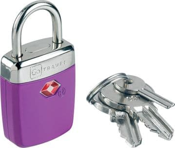 Go Travel Travel Sentry® Alert TSA  Safe & Secure Key Luggage Padlock (Ref 335)