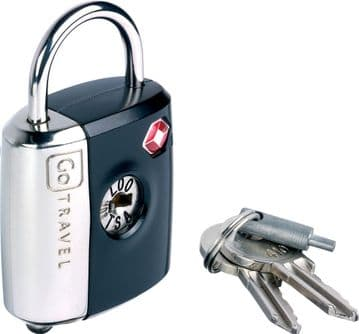 Go Travel TSA Dual Combination or Key Travel Luggage, Suitcase Padlock (Ref 337)