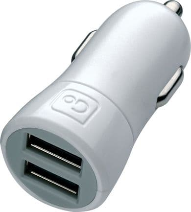 Go Travel Twin USB In-Car Cigarette socket Smartphone Charger (2.1A) (Ref 039)