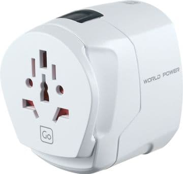Go Travel Worldwide Universal Earthed Adaptor-150 Countries (Adapter Ref 407)
