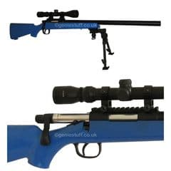 AGM W700 Blue Airsoft Sniper Rifle with Scope and Bipod