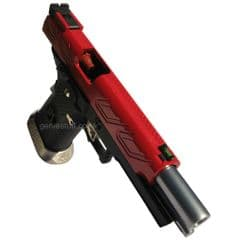 AW Custom Hi-Capa GBB HX2302 Airsoft Gun with Candy Apple Red Slide
