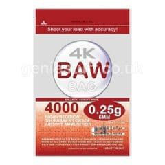 BAW 4000 Airsoft BB Ammo 0.25g Ultra Grade