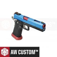 HX1105 Airsoft Pistol Armorer Works Hi-Capa GBB Blue & Red