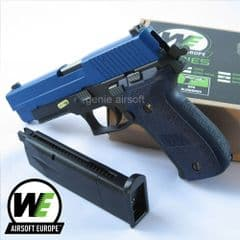 WE F226 Two Tone Gas Blow-back Airsoft Pistol with Rail