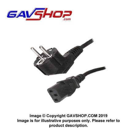 1.5m Schuko Power Cable, C13, IEC to CEE 7/7, Male Angled Euro plug