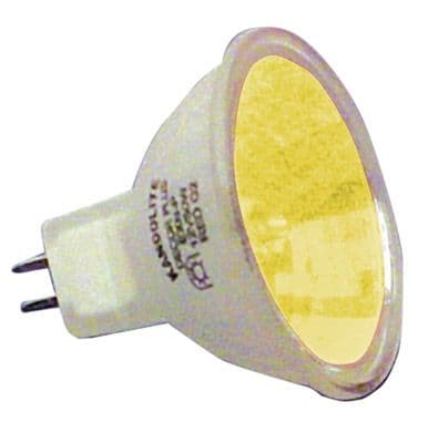 10 x Halogen Dichroic Yellow 50 W 12 V MR16 High Quality Effects Lamps