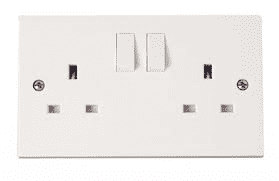 13A Click Polar Double Switched Socket
