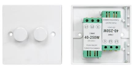 2 gang 2-way dimmer switch