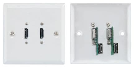 2 x HDMI STEEL WALLPLATE / FACEPLATE 122.432UK