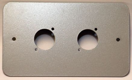 2 x XLR Double Socket Metal Powder Coated Faceplate