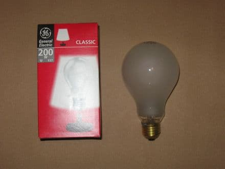 200W GE Classic Pearl Edison Screw (ES Fitting) Light Bulb Lamp