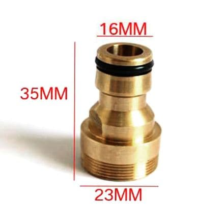23mm Water Brass Hose Pipe Fitting  Connector Adaptor
