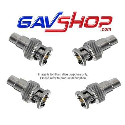4 X BNC Male Socket Plug to RCA Phono Female Adapter Connectors For CCTV Camera - F393