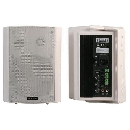 "5""  Pulse Active Speakers (Pair), 40W RMS White -  ACTIVE40PRO-WH"
