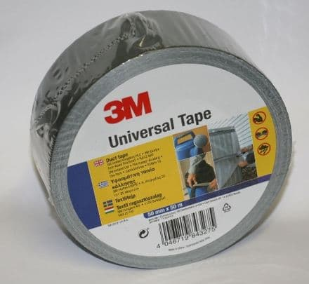 50M x 50mm 3M Branded Silver Gaffa/ Duct Tape