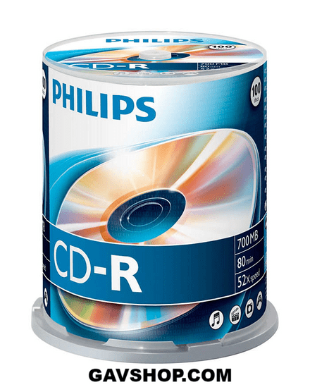 52x Speed CD-R Blank CDs - Spindle 100 Pack -  CR7D5NB00/00