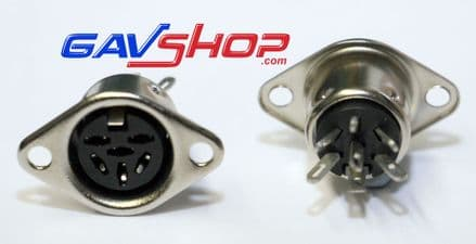6 Pin Chassis Mount DIN Socket