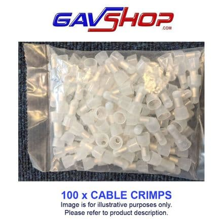 6.4mm² Cable Crimp Joiners 25mm x 12mm x 12mm Bag Qty:100