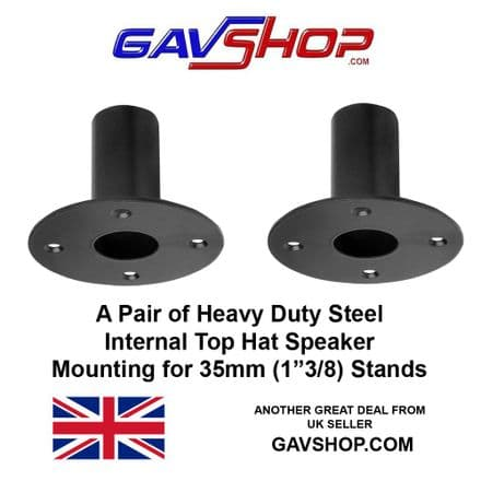 A Pair of 35mm Internal Metal Top Hat Speaker Mounts - G001ZC