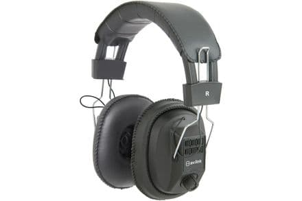AV:LINK Mono/Stereo Headphones with 3.5mm & 6.35mm Jack and Volume Control