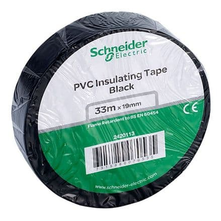 BLACK Electrical Insulation Tape 19mm x 33Mts