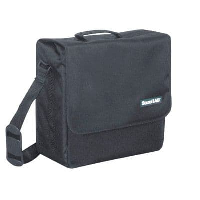 Black Fabric 30 LP/Album Bag With Shoulder Strap, Clip Fastener. G013KG