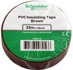 Brown (LIVE) Electrical Insulation Tape 19mm x 33Mts (4)