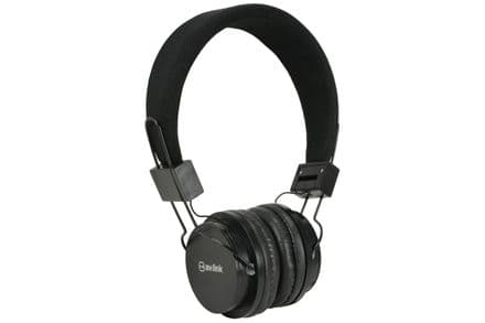 Children's Black Headphones with in-line Microphone & Volume Limiter