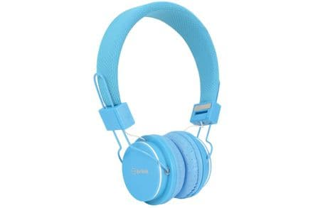 Children's Blue Headphones with in-line Microphone & Volume Limiter