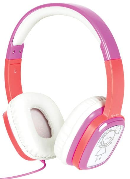 Children's Customisable Doodle Volume Limited Pink Headphones