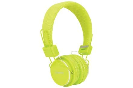 Children's Green Headphones with in-line Microphone & Volume Limiter