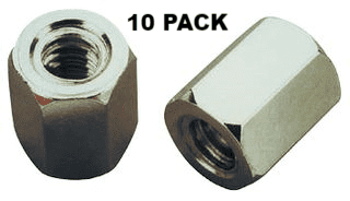 D Type 4/40UNC Spacers, 6mm, 10 Pack -  MHCA0270