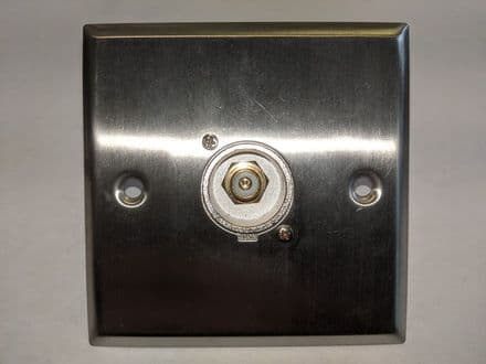 F267MS Silver Metal AV Wall Plate With 1 x Phono Socket.