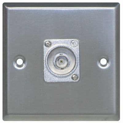 F267XJ Silver Metal AV Wall Plate With 1x BNC Socket.