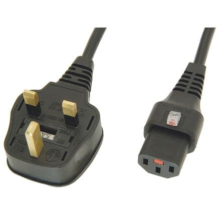 IEC MAINS LEADS VARIOUS LENGTHS FROM £1