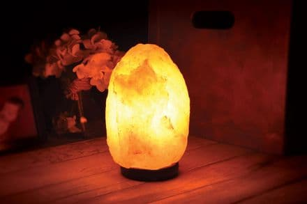 Lyyt Dimmable Health Light Himalayan Rock Salt Lamp (2-3kg) on wood base