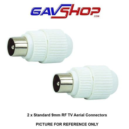 Pair of 9mm TV Aerial Coaxial Line Plug