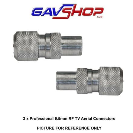 Pair of Professional 9.5mm Nickel TV Aerial Coaxial Line Plugs
