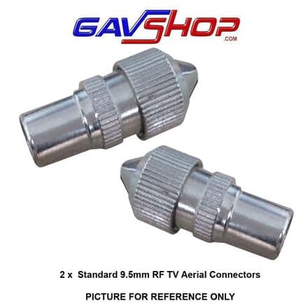 Pair of Standard 9.5mm TV Aerial Coaxial Line Plugs