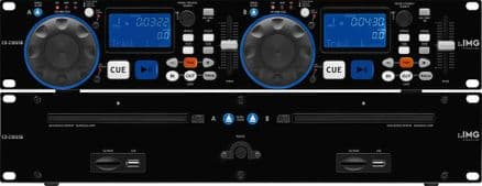 Professional Dual DJ CD/MP3 Player by IMG Stageline