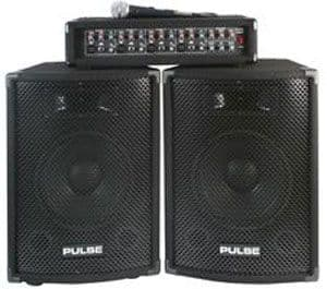 Pulse PMH200KIT PA SYSTEM 150W PA MIXER AMPLIFIER  + SPEAKERS- FREE UK DELIVERY