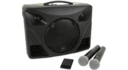 QTX Delta 50 Portable Desktop 50W PA with Bluetooth and 2 Hand Held Radio Microphones  178.808UK